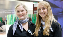 Photo: Two fair hostesses